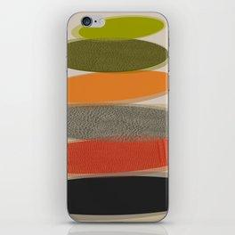 Mid-Century Modern Ovals Abstract iPhone Skin
