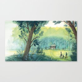Home In The Woods Canvas Print