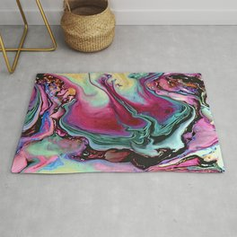Colorful abstract marble Rug