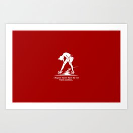 Running from Zombies Art Print