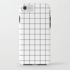 Grid Simple Line White Minimalistic iPhone 7 Tough Case