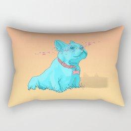 Psychedelic French Bulldog Rectangular Pillow