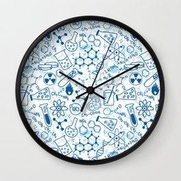 School chemical pattern #2 Wall Clock