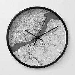 Levis Pencil City Map Wall Clock
