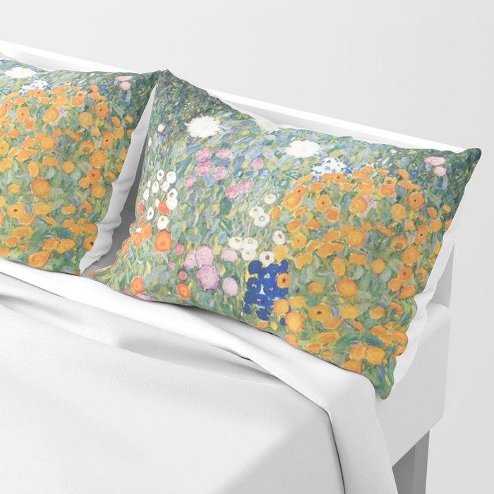 Gustav Klimt Flower Garden Kissenbezug