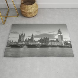 View of the Palace of Westminster and of the Big Ben - London Rug