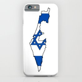 Israel Map with Israeli Flag iPhone Case