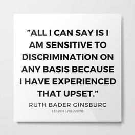 34    | 191115 | Ruth Bader Ginsburg Quotes Metal Print