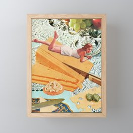 Money Can't Buy You Happiness, But It Can Buy You Cheese Framed Mini Art Print