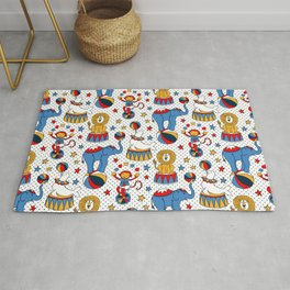 Little Circus Stars on White Rug