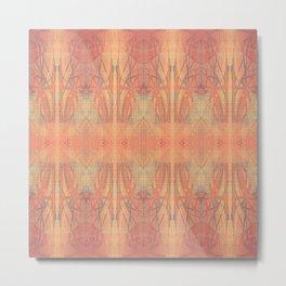 pink batik Metal Print