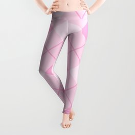 Pink Plaid Pattern Leggings