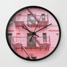 Pink Soho NYC Wall Clock