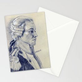 lafayette in pencil Stationery Cards