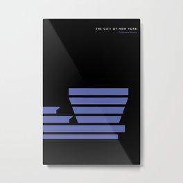 New York Skyline: Guggenheim Museum Metal Print