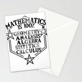 math magic teacher school statistics joke gift Stationery Cards