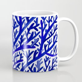 Fan Coral – Navy Coffee Mug