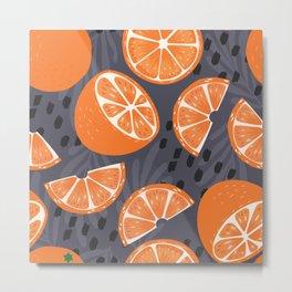 Orange pattern 02 Metal Print
