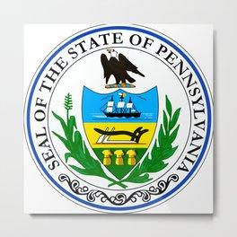 seal of the state of Pennsylvania Metal Print