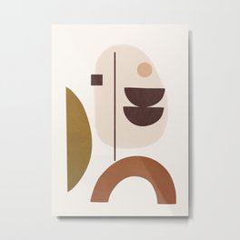Minimal Shapes No.42 Metal Print