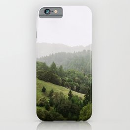 Treed Studded Hills of Marin County, CA - 35mm film iPhone Case