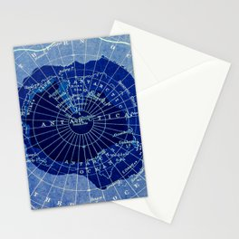 South Pole Neon Map Stationery Cards