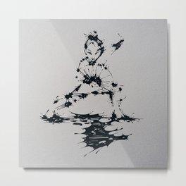 Splaaash Series - Lan Lan Ink Metal Print