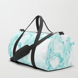Teal Mermaid Glitter Marble Duffle Bag