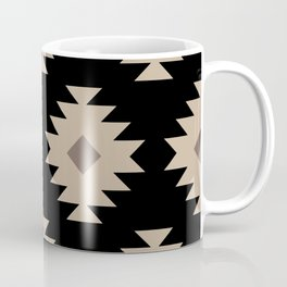 Southwestern Pattern 521 Black and Beige Coffee Mug