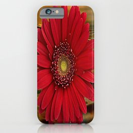 Red Daisy Abstract iPhone Case