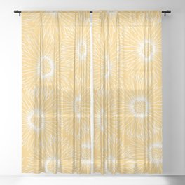 Sunflowers Sheer Curtain