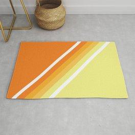 Retro Orange n' Yellow Lines Rug