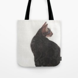Dave the Bengal Cat, pastel, oil pastel, pencil, charcoal, by Candy Medusa, Black Dwarf Designs Tote Bag