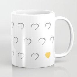 Hearts - Yellow Coffee Mug
