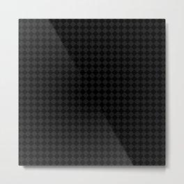 Black Grey Checkers Metal Print