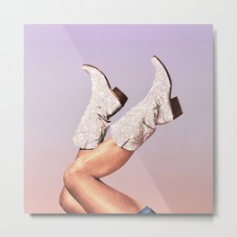 These Boots - Glitter Miami Vibes Metal Print