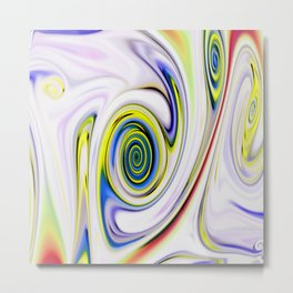 Waves and swirls, abstract, patterns piece no 14 Metal Print