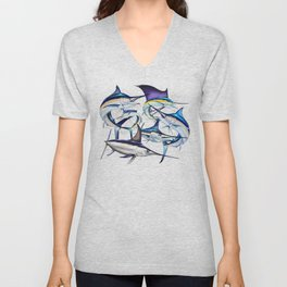 Pacific Billfish Slam Marlins,Sailfish,Swordfish,Spearfish Unisex V-Neck