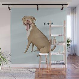 Pitbull Wall Mural