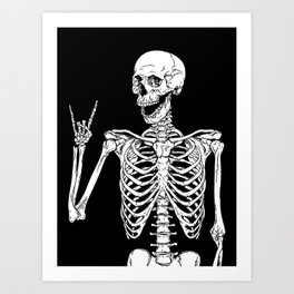 Rock and Roll Skeleton Kunstdrucke