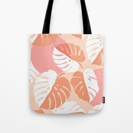 Abstraction_NEW_MONSTERA_LEAVES_BOHEMIAN_ART_003AA Tote Bag
