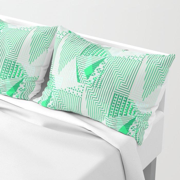 Metallic mint Pillow Sham