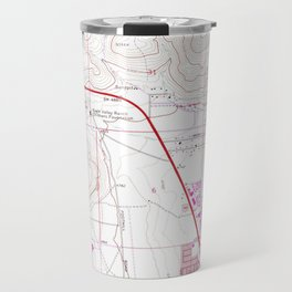 Vintage Map of Carson City & Washoe Lake NV (1968) Travel Mug