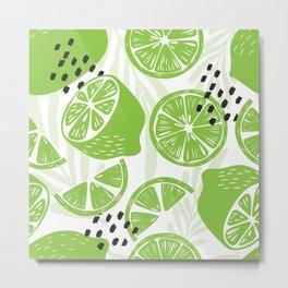 Lime pattern 03 Metal Print