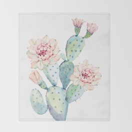 The Prettiest Cactus Throw Blanket