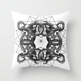 Hermetica Moderna - Medusa Intertwined Throw Pillow