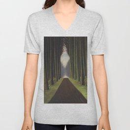 The Way through the Dark Forest by Leon Spilliaert Unisex V-Neck