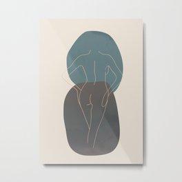 Line Female Figure 80 Metal Print