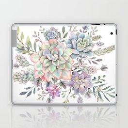 succulent watercolor 8 Laptop & iPad Skin