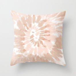 Neutral Tie-Dye 02 Throw Pillow